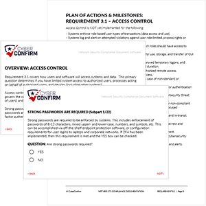 CyberConfirm NIST 800-171Software